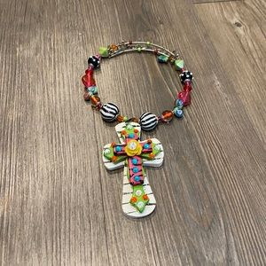 Handmade custom cross necklace